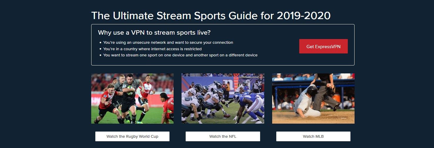how to watch sport by streaming with ExpressVPN