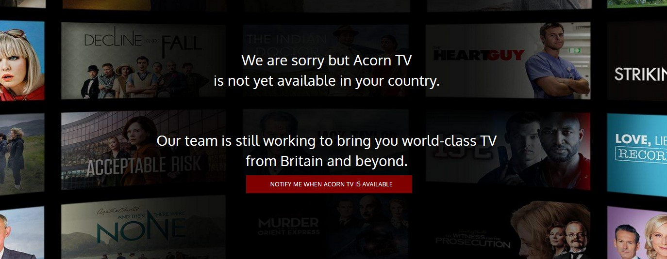 Acorn TV restricted