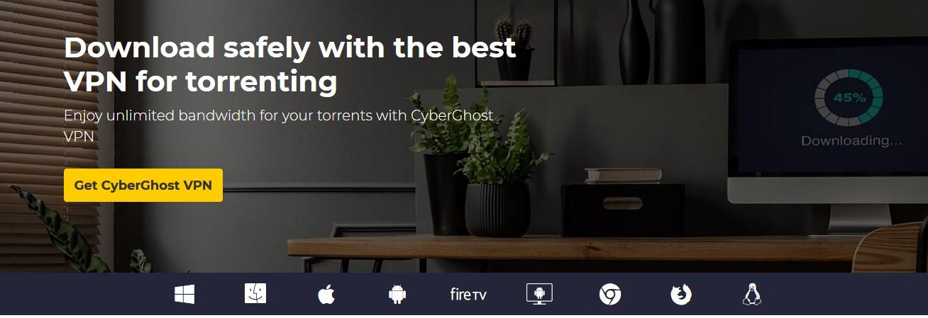 CyberGhost Torrenting