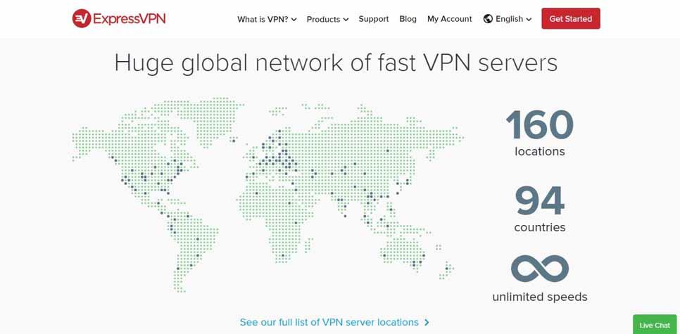 ExpressVPN servers