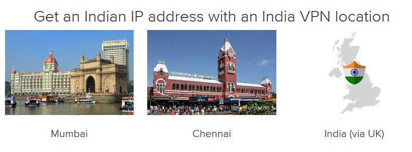 Get an IP address from India with ExpressVPN