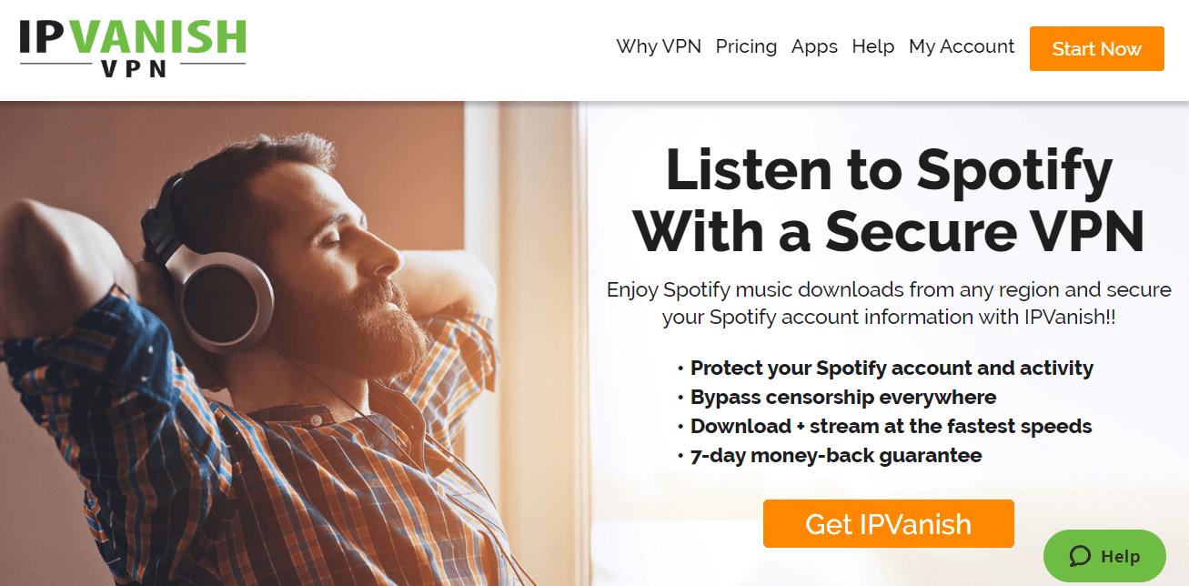 IPVanish for Spotify