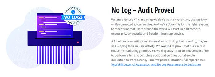 VyprVPN logs