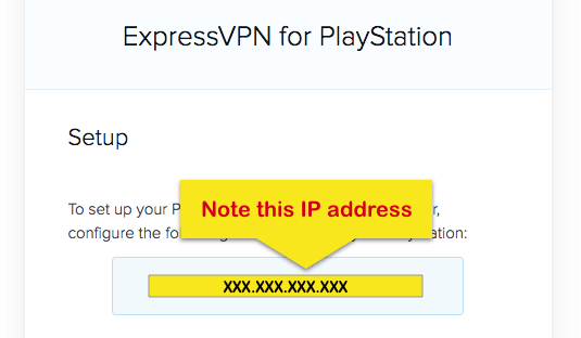 PlayStation IP address ExpressVPN