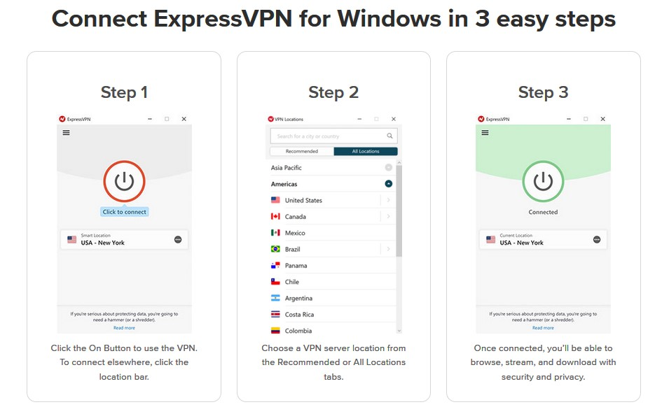 Steps to setup ExpressVPN on Windows