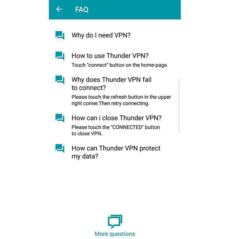 Thunder VPN FAQ