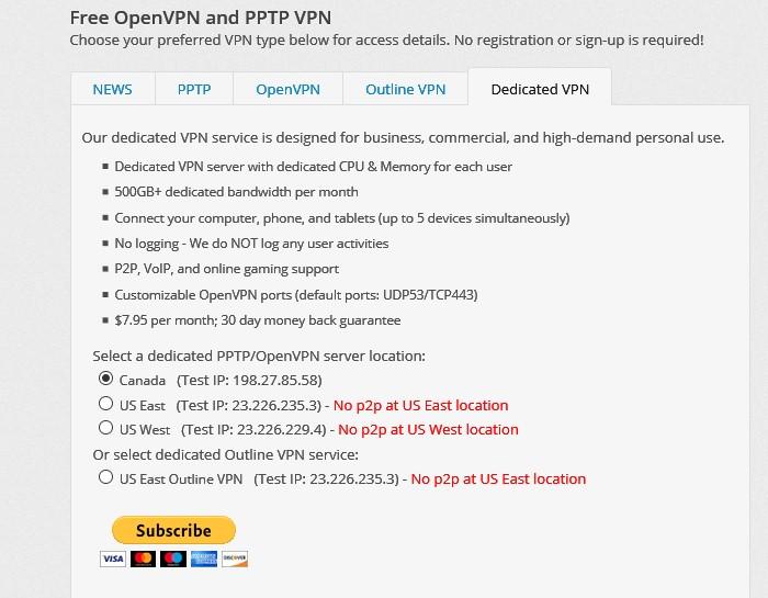 VPNBook dedicated server