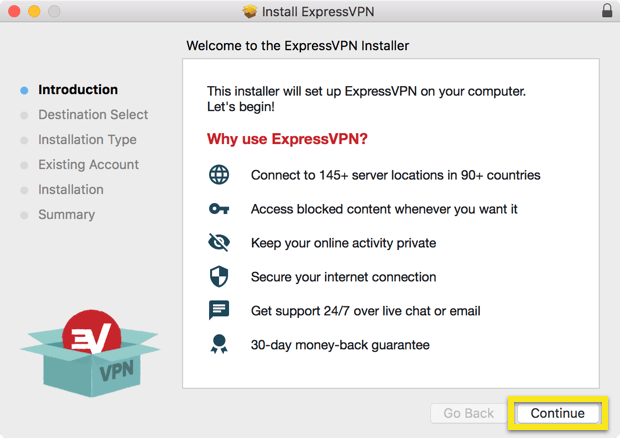 install ExpressVPN on Mac