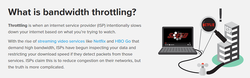 Bandwidth throttling