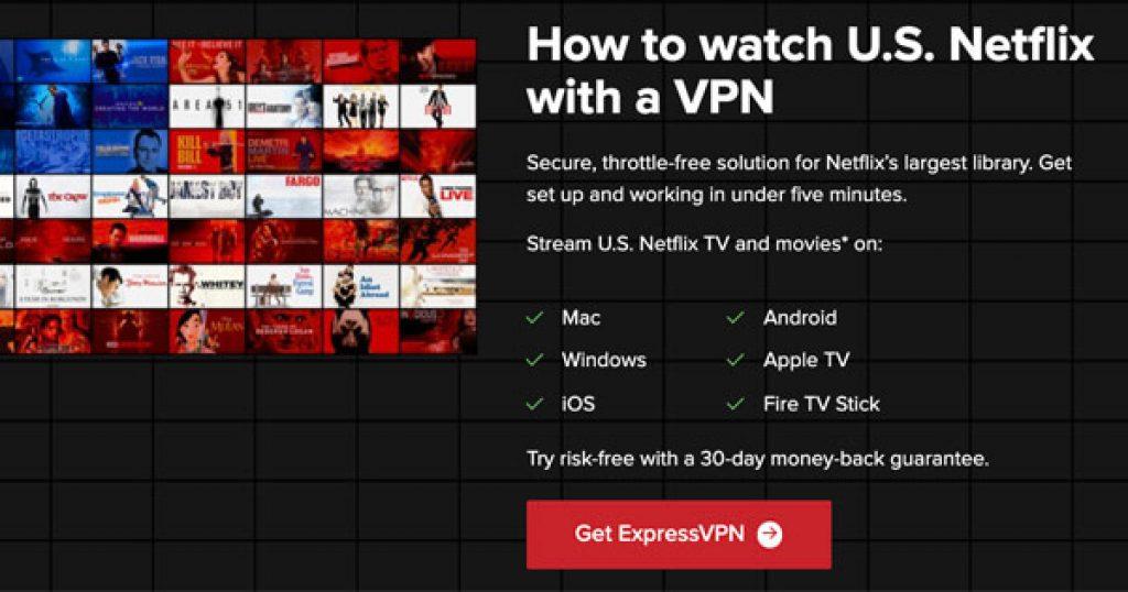 ExpressVPN VPN netflix