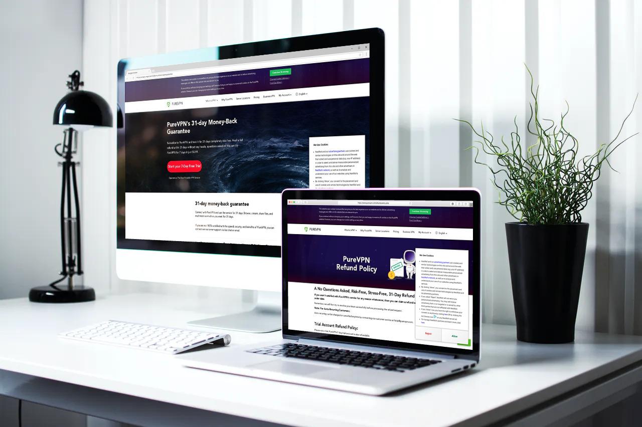 PureVPN Refund and Money-back guarantee