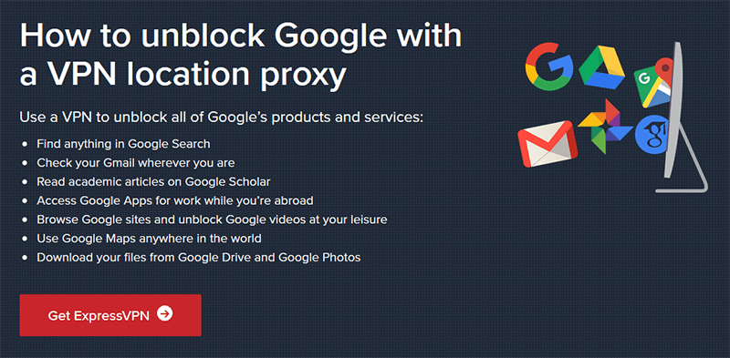 Unblock Google with ExpressVPN