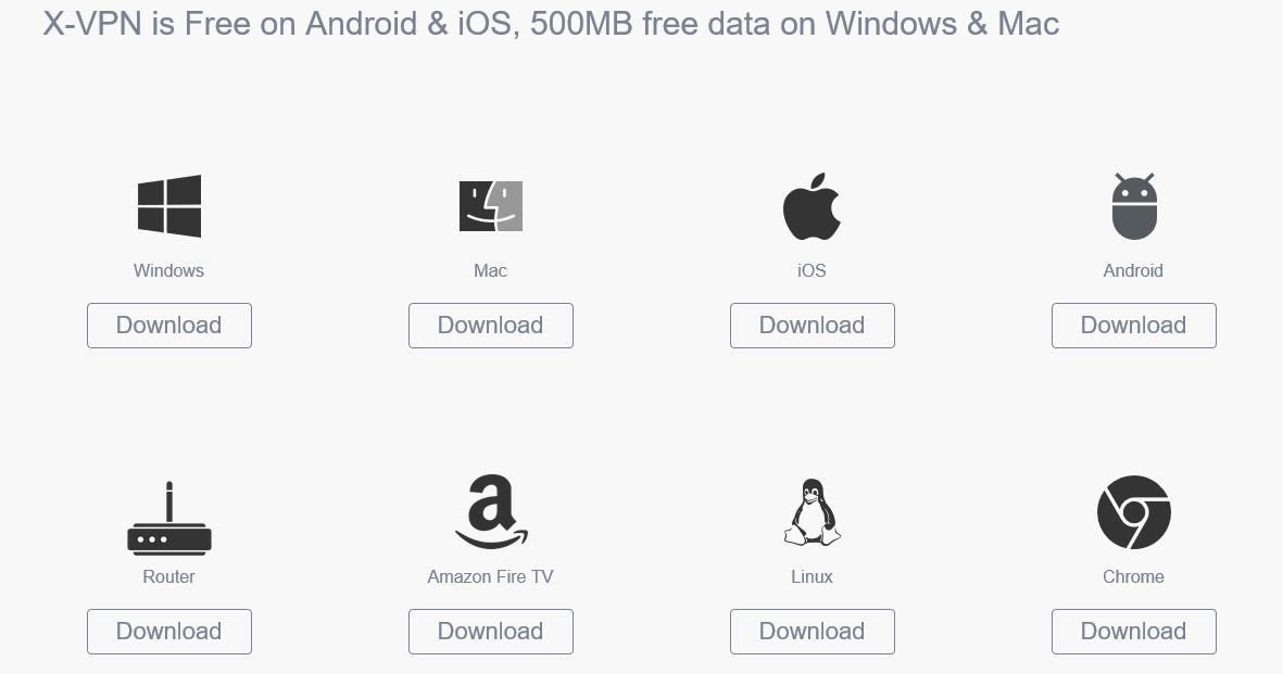 X VPN apps