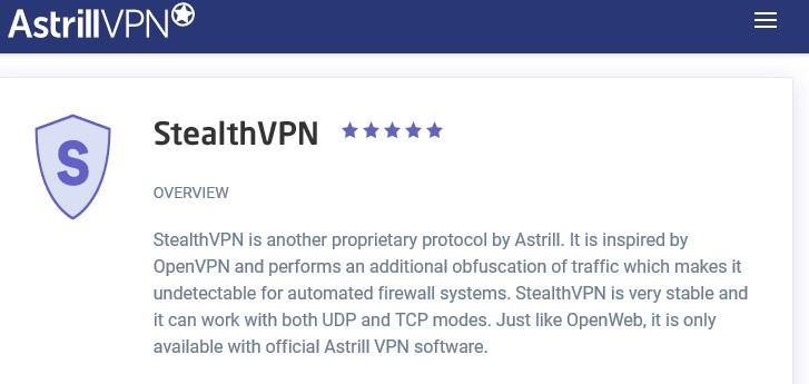 Astrill StealthVPN