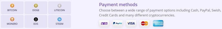 AzireVPN Payment Methods