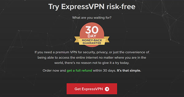 ExpressVPN Money-back guarantee