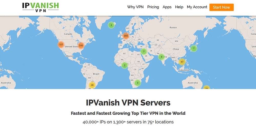 IPVanish servers