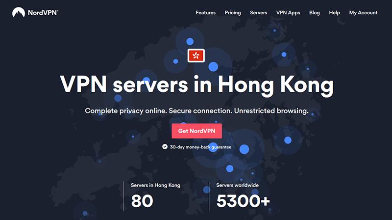 NordVPN in Hong Kong
