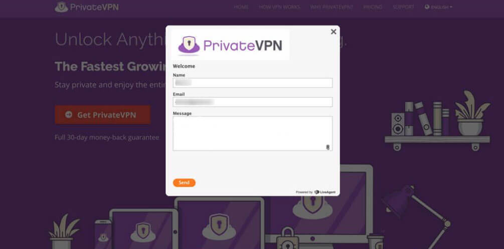 PrivateVPN customer support