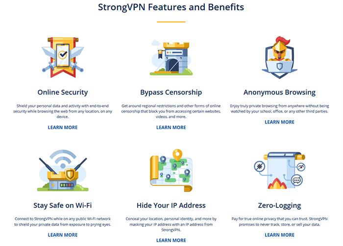StrongVPN features