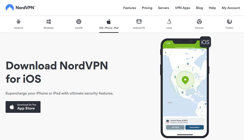 VPN for iPad NordVPN