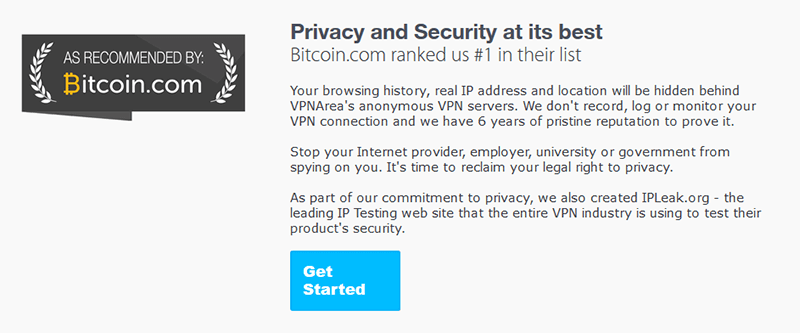 VPNArea privacy