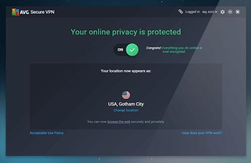AVG Secure VPN application