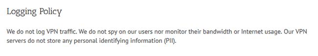 Ace VPN logging policy