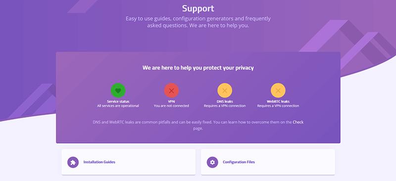 AzireVPN support
