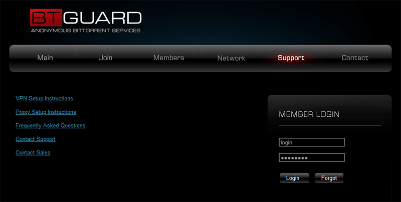 BTGuard client support