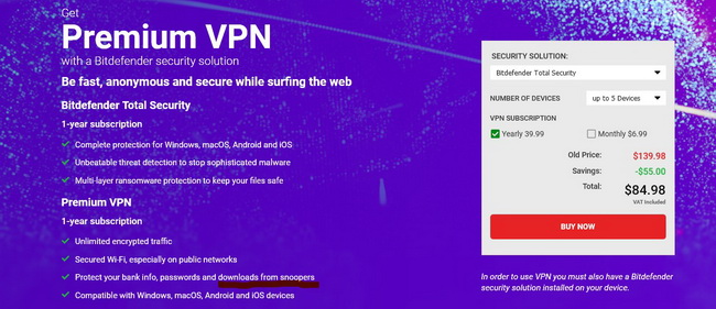 Bitdefender VPN downloads