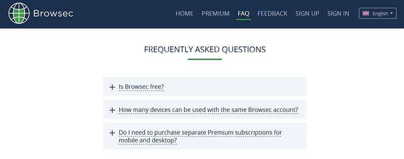 Customer support FAQ