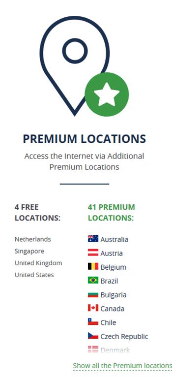 Browsec VPN locations