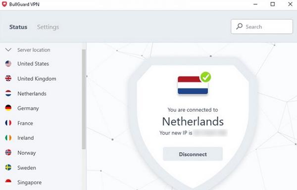 BullGuard VPN app