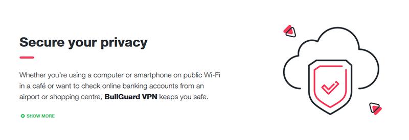 BullGuard VPN security