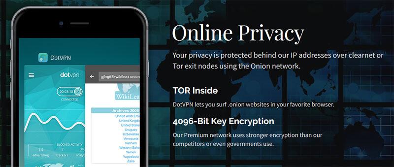 DotVPN privacy