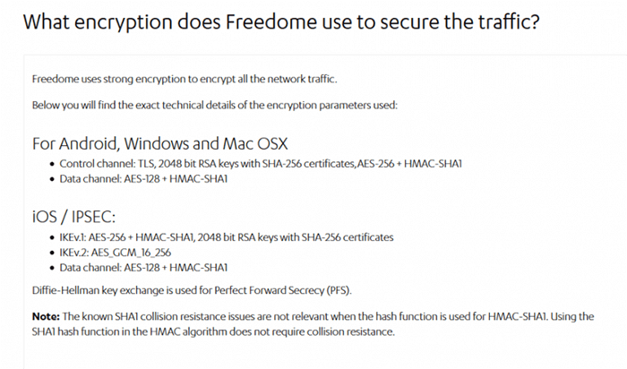 F-Secure Freedome encryption