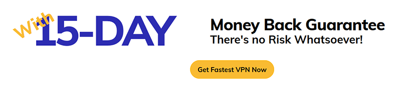 FastestVPN Money-back guarantee