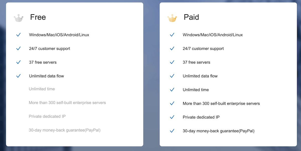 Free vs Paid FlyVPN