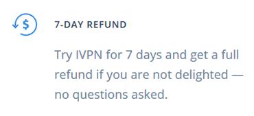 IVPN refund