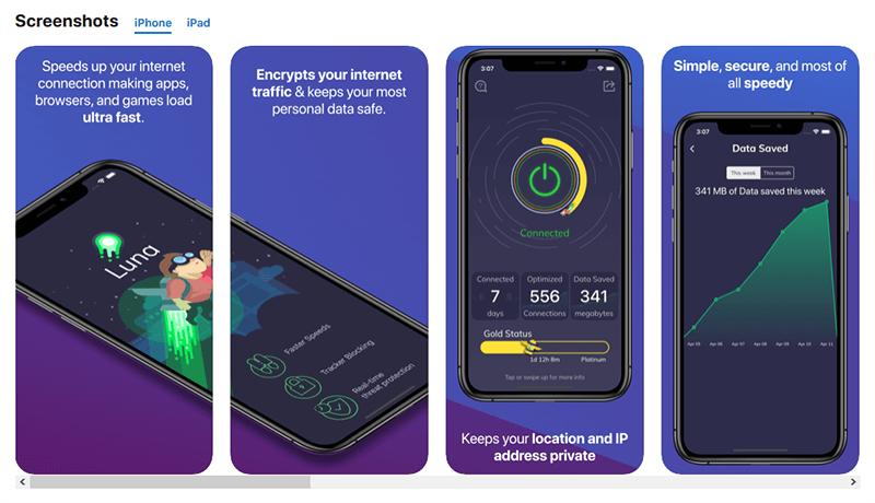Screenshot iOS app