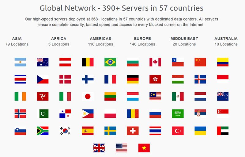 OneVPN servers
