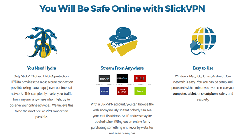 SlickVPN features