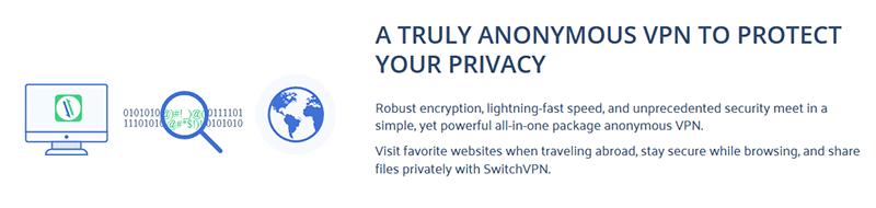 SwitchVPN privacy