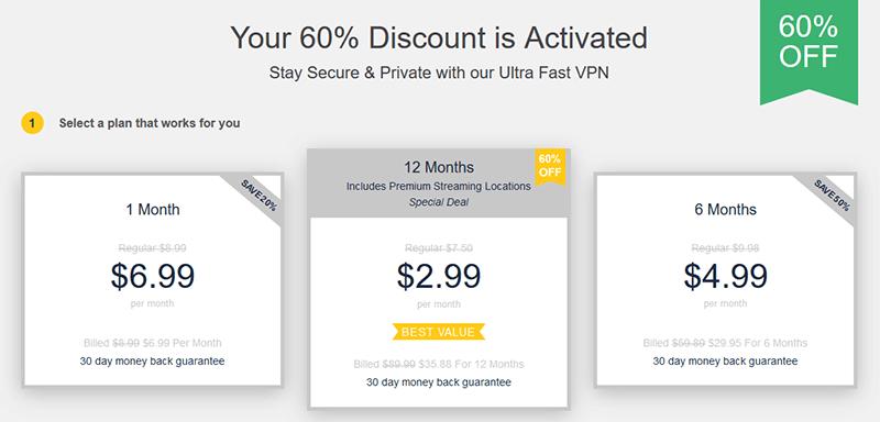 UltraVPN prices