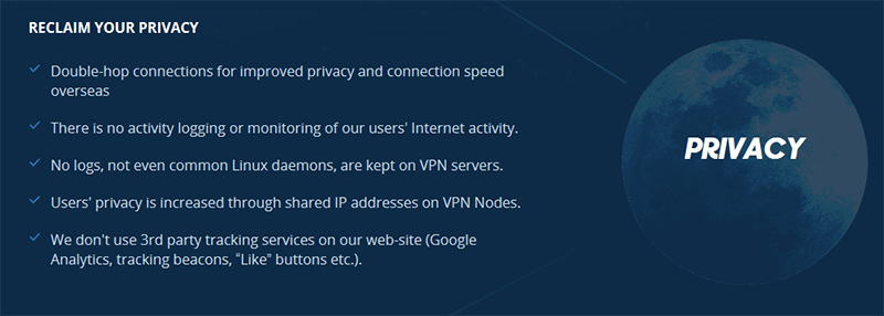VPN.ac privacy