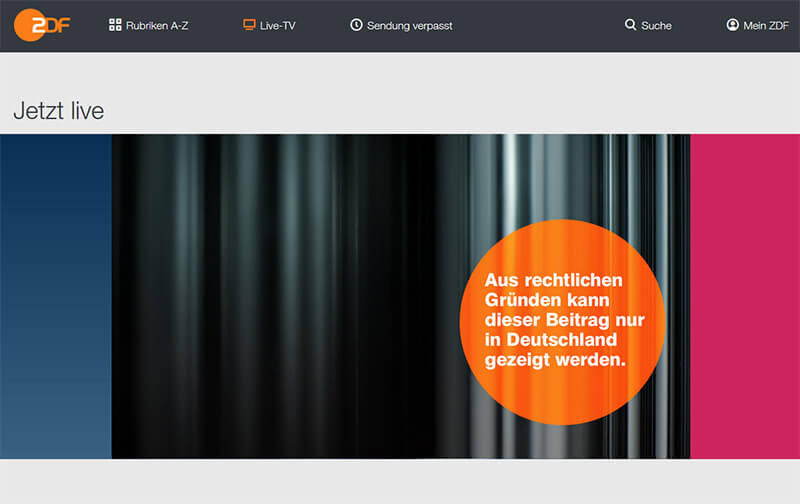 ZDF without VPN