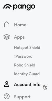 Account information Hotspot Shield