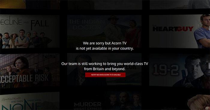 Acorn TV error message
