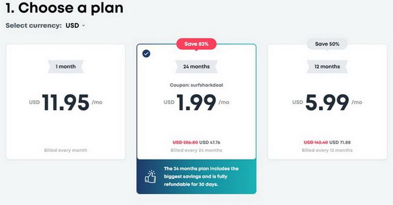 Surfshark-prices